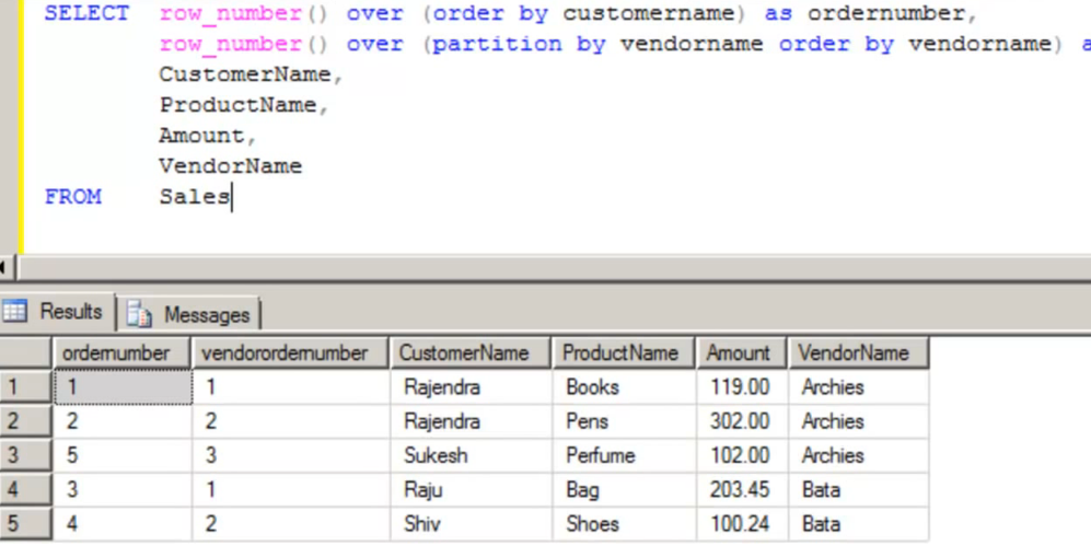 Overview of Rank And Rows Function In Sql Server, Row Number, Partition, Rank And Dense Rank Function in Sql Server